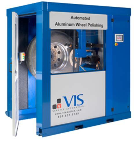 automated cleaning aluminum wheels, rims polishing machine
