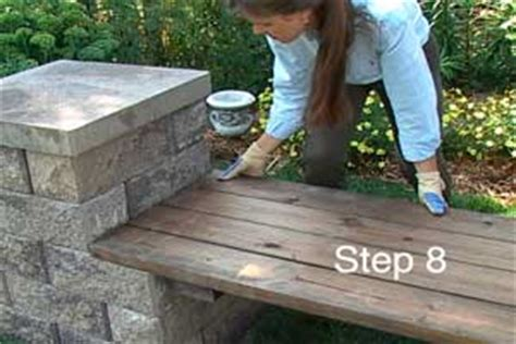 how to make a stone bench how to build a garden bench oregon block