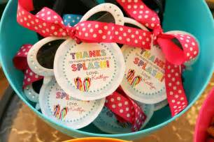 Pool Birthday Favor Ideas by Inkberry Cards Design Designer Invitations Photo