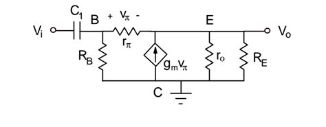 bjt transistor questions finding ac equivalent circuit of a bjt lifier electrical engineering stack exchange