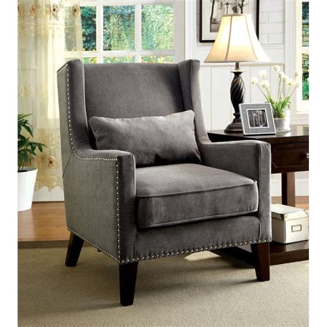 wingback chairs for living room furniture of america franklin wingback accent chair in