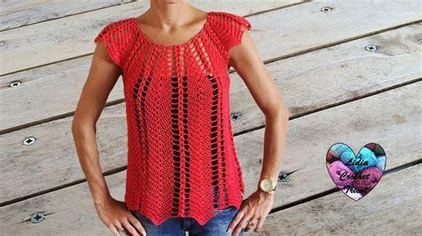 pinterest filet crochet blouses magnifique blouse au crochet ajour 233 e 1 2 linda blusa