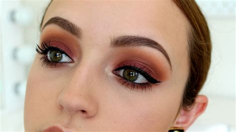 eyeshadow tutorial makeup geek sunset bitten eyes makeup tutorial youtube