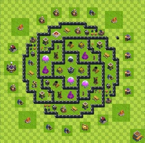 layout coc untuk th 5 ini dia formasi farming base coc th 8 yanuar s blog