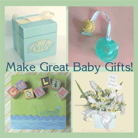 Handmade Things For Newborn Baby - baby shower crafts