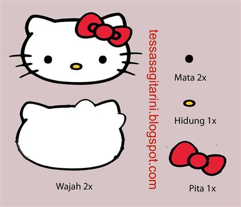 membuat kerajinan hello kitty cara membuat amplop karakter hello kity dari kain flanel