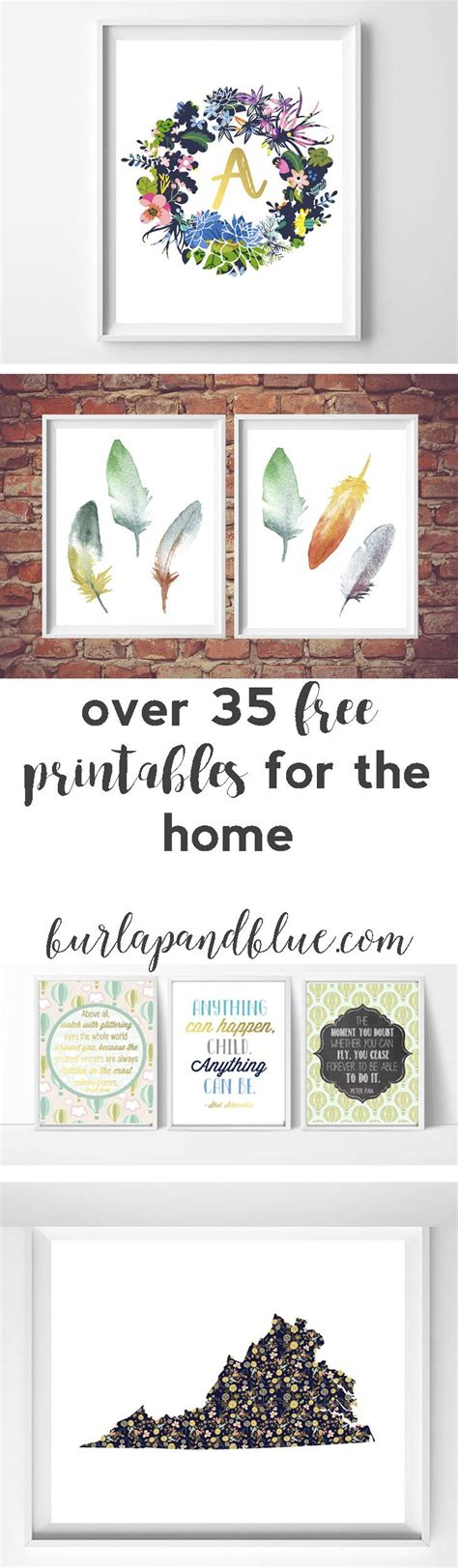 free printable home wall decor decor hacks over 35 free printables for the home lots