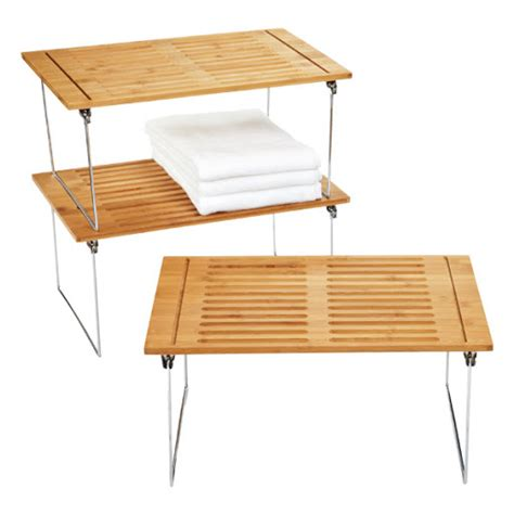 Bamboo Stacking Shelf by The Season For Grilling Home Design With Kevin Sharkey