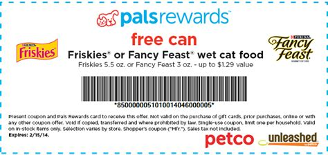 wet dog food coupons printable petco free friskies or fancy feast wet cat food coupon