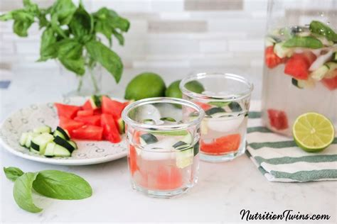 Watermelon Cucumber Detox Drink by Watermelon Cucumber Basil Detox Drink Nutrition
