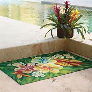 Frontgate Indoor Outdoor Rugs Tropical Flower Indoor Outdoor Rug 5 X 8 Frontgate Traditional Doormats By Frontgate