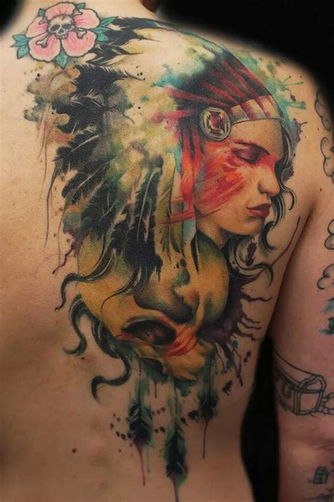tattoo for indian girl nice girl and skull indian tattoo on shoulder back best