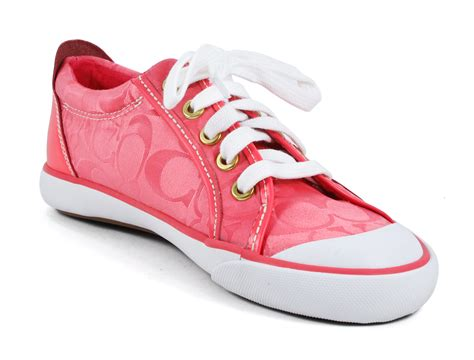 coach barrett pink fashion lace up sneakers 7 5 new ebay