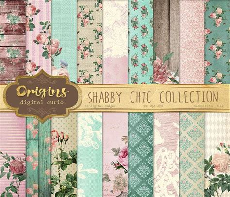 Wallpaper Bunga Floral Flower Shabby Chic Vintage Rustic 210602 shabby chic digital paper pink and mint vintage floral backgrounds rustic wood and burlap