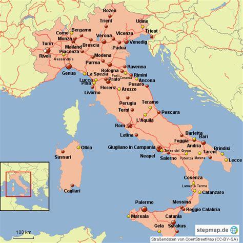 Karte Deutschland Italien by Italien St 228 Dte Lolmops35 Landkarte F 252 R Deutschland