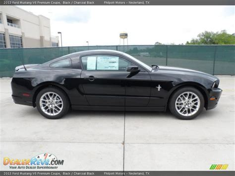 ford mustang coupe v6 black 2013 ford mustang v6 premium coupe photo 2