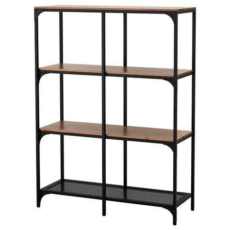 Ikea Shelving | fj 196 llbo shelving unit black 100x136 cm ikea