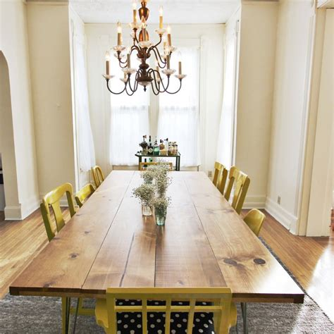 Dining Room Diy Home Diy Dining Room Table And Mismatched Chairs The