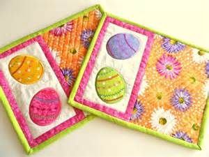 easter egg mug rugs snack mats candle mats coasters set of