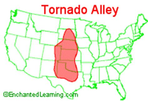 tornado alley texas map tornado enchantedlearning