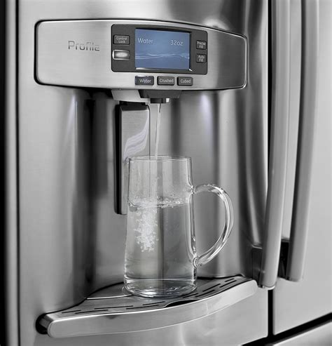 Water Dispenser Quit Working Ge Refrigerator Ge Refrigerator Profile Series Measures Water For You Appliance