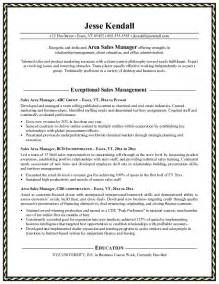 sle of a sales resume optical sales manager resume