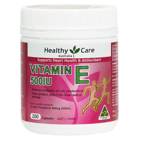 buy healthy care vitamin e 500iu 200 capsules at