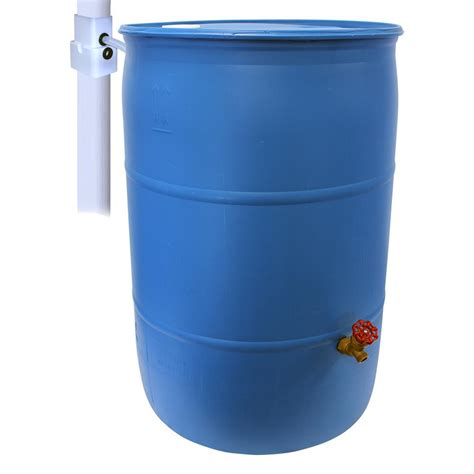 emsco 55 gal paintable blue plastic drum diy barrel