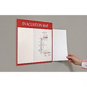 11 best images about evacuation intersign evacuation map holder 8 1 2x11 white red 8xev1 lab mh11 em grainger