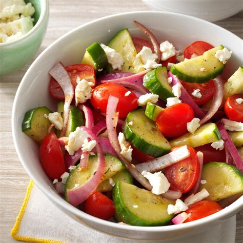 salad recipes balsamic cucumber salad recipe taste of home
