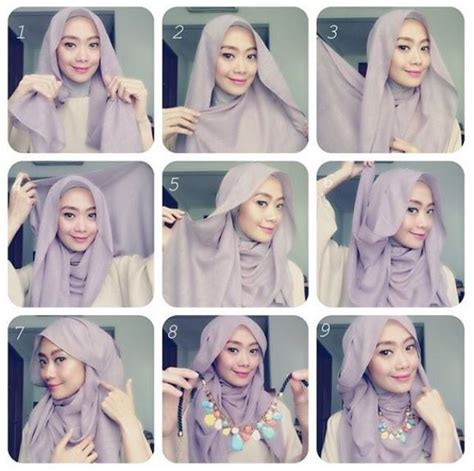 hijab fashion step by step casual and new hijab style with step by step tutorial