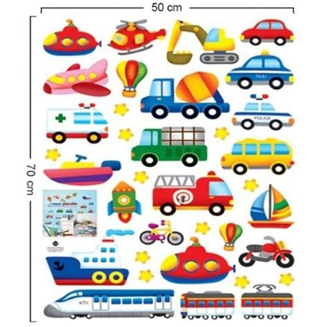 types of boats with 8 letters colorful cartoon car train boat transportation removable