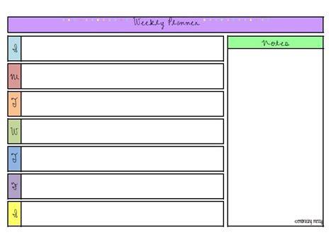 printable weekly planner for work free printable friday weekly planner organize me