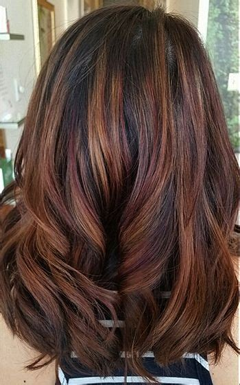 winter highlights for brunettes 25 best ideas about hair colors for fall on pinterest
