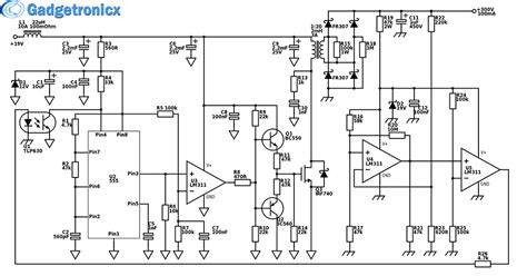 circuit diagram of generator power booster k