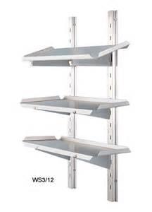 Adjustable Shelving Adjustable Three Tiered Wall Shelving
