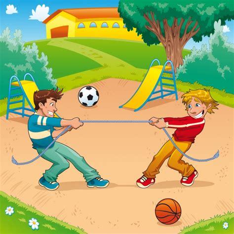 imagenes de niños jugando en un parque dos ni 241 os jugando en el parque descargar vectores gratis