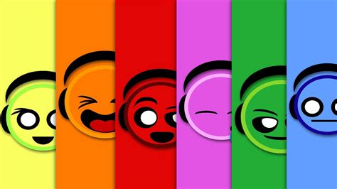 How Color Affects Your Mood attractive colorful emoji emotions smiley headset music hd
