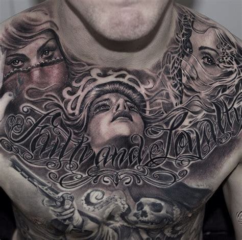 tattoo chest full black and grey tattoo black and grey tattoo of realist