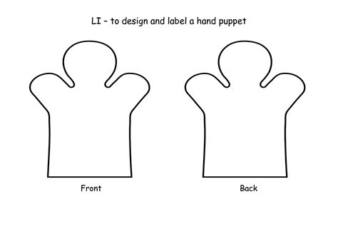 puppet template 8 best images of puppet printable template finger