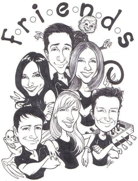 magna doodle drawings on friends riktoonz cartoonist caricaturist rick c