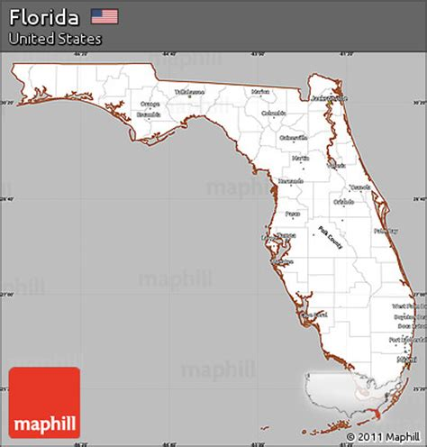 Florida Simple Search Free Free Gray Simple Map Of Florida Cropped Outside