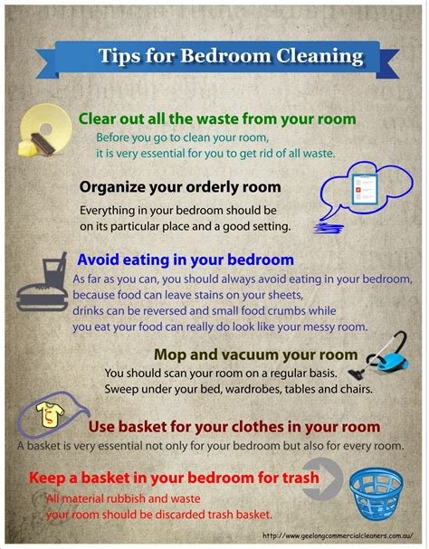 tips for cleaning bedroom tips for bedroom cleaning ucollect infographics