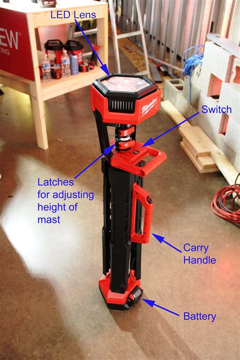 milwaukee m18 light stand milwaukee m18 light stand tools of the trade jobsite