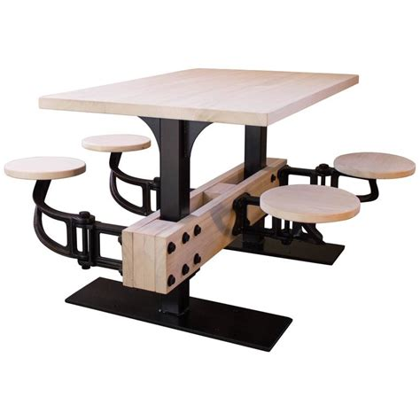 swing out table bespoke dining table w attached seating kitchen