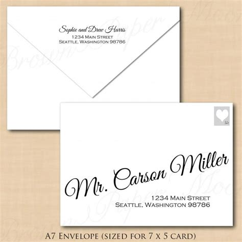 Change All Colors Calligraphy Address Wedding Envelope Template A7 Text Editable In Microsoft Word A7 Envelope Template