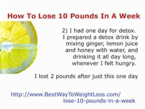 Detox Diet To Lose 10 Pounds In 2 Weeks by Lose 10 Pounds In A Week How To Lose 10 Pounds In A Week