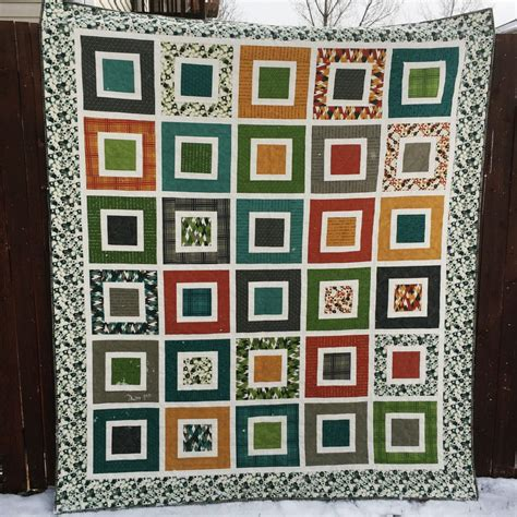 Square In A Square Quilt by Tutorial Reboot Featuring Guest Ellis