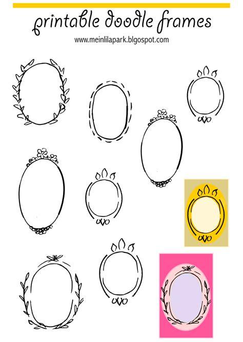 free doodle frames free printable oval frame doodles rahmen freebie