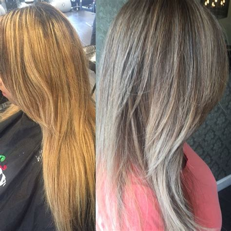 platinum blonde makeovers blonde makeover before after white icy ash silver